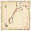 Norway old pirate map.