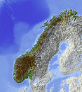 Norway, relief map Stock Image