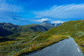 Norway road landscape Royalty Free Stock Photo
