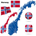 Norway  set. Royalty Free Stock Photo