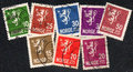 Norway stamps Royalty Free Stock Photo
