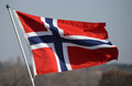 Norwegen flagge Stockbild