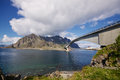 Norwegian bridge Royalty Free Stock Images