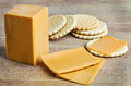 Norwegian brunost cheese close up Stock Image
