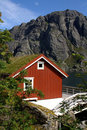 Norwegian fishing hut Royalty Free Stock Images