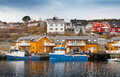 Norwegian fishing village Stock Photo