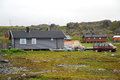 Norwegian fishing village in summer. Finnmark. Royalty Free Stock Photo