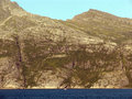 Norwegian fjord view of the coastline of the from the ferry Royalty Free Stock Photos