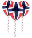 Norwegian flag balloon Royalty Free Stock Images