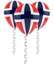 Norwegian flag balloon Royalty Free Stock Photo