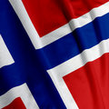 Norwegian Flag Closeup Stock Image