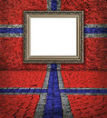 Norwegian flag style. Elegant frame on the wall Royalty Free Stock Photography