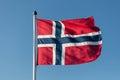 Norwegian flag Royalty Free Stock Photo