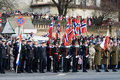 Norwegian Honour Guard at Military parade Stock Image