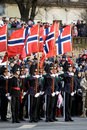 Norwegian Honour Guard at Military parade Royalty Free Stock Photography