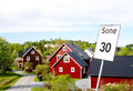 Norwegian house Stock Images