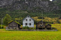 Norwegian house restaurated norvegian household in norway Royalty Free Stock Images