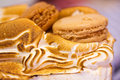 Norwegian omelette (or Baked Alaska) cake macro Stock Images