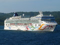 Norwegian pearl cruise line Stock Photo
