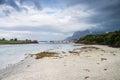 Norwegian seaside during lowtide horizontal shot Royalty Free Stock Image
