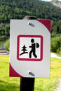 Norwegian sign Stock Images