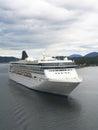 Norwegian spirit cruise ship in ketchikan harbor alaska july on july originally was built for star Royalty Free Stock Image