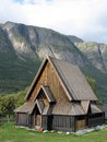 Norwegian stave church Stock Images