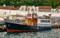 Norwegian traditional fishing boat Royalty Free Stock Photo