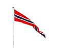 Norwegian triangle pennant flag isolated on white Stock Photography