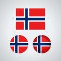 Norwegian trio flags, illustration