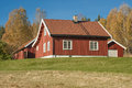 Norwegian wooden house in traditional village Royalty Free Stock Photography