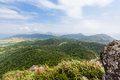 Nosoko view ishigaki from the top of mount in okinawa japan Royalty Free Stock Photos