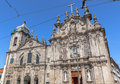 Nossa senhora do carmo das carmelitas church of in downtown porto Stock Image