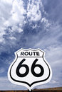 Nostalgic route 66 sign Stock Photography