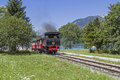 Nostalgic train ride a on the old steam from jenbach to achensee is a standard program of many holidaymakers Stock Photography