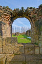 Nostell priory looking through the wall at Royalty Free Stock Photo