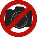 Not allowed camera photos sign