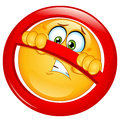 Not allowed emoticon Stock Images