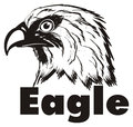 Not colored head of eagle with name