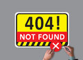 Not Found 404 Error Failure Warning Problem Royalty Free Stock Photo