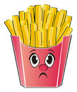 Not happy face of fast food Royalty Free Stock Photo