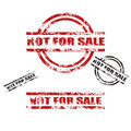 NOT FOR SALE grunge stamp set Royalty Free Stock Photo