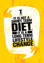 It Is Not Short Time Diet. It Is A Long Term Lifestyle Change. Nutrition Motivation Quote
