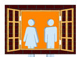 Not on speaking terms a conceptual illustration of illustration shows a couple a man and a woman looking away from each other Royalty Free Stock Photos
