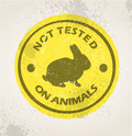 Not tested on animlas sign Royalty Free Stock Photo