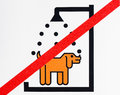 Not washing dog sign in the beach Stock Image