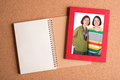 Note Book And  Frame With Pict...