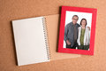Note Book And Frame With Pictu...