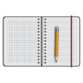 Note book paper with pen isolated Stock Images