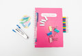 Note Book and Stationery Royalty Free Stock Images
